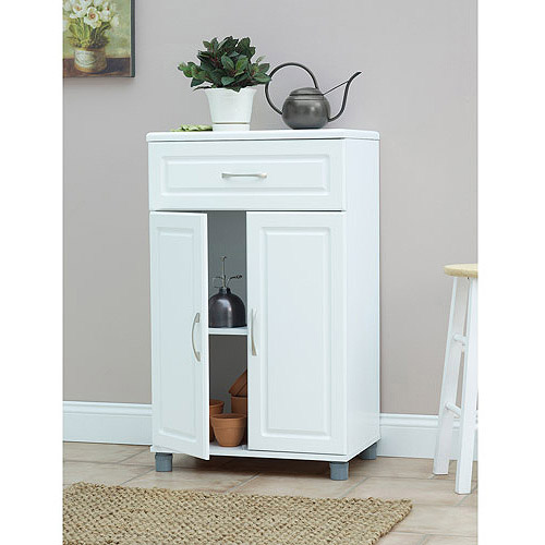 "SystemBuild 24"" 1 Drawer/2 Door Base Storage Cabinet, White"