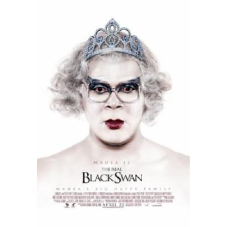 Madeas Big Happy Family Movie Tyler Perry Black Swan Poster Metal Sign 8in x