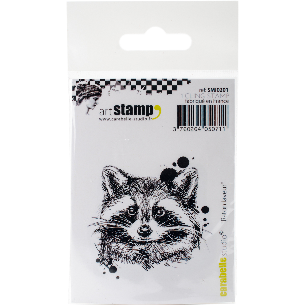 "Carabelle Studio Cling Stamp Small 2""X2.75""-Raccoon"