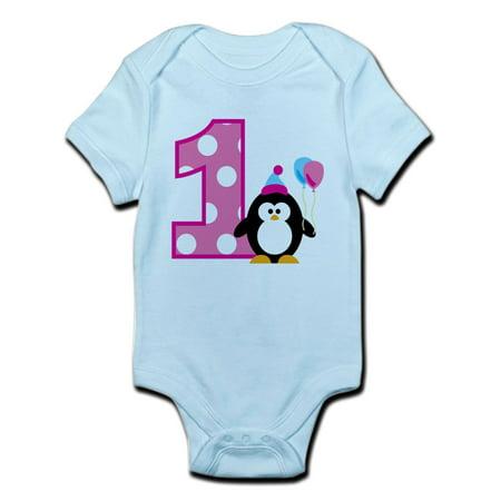 CafePress - Girl Penguin 1St Birthday Infant Bodysuit - Baby Light Bodysuit
