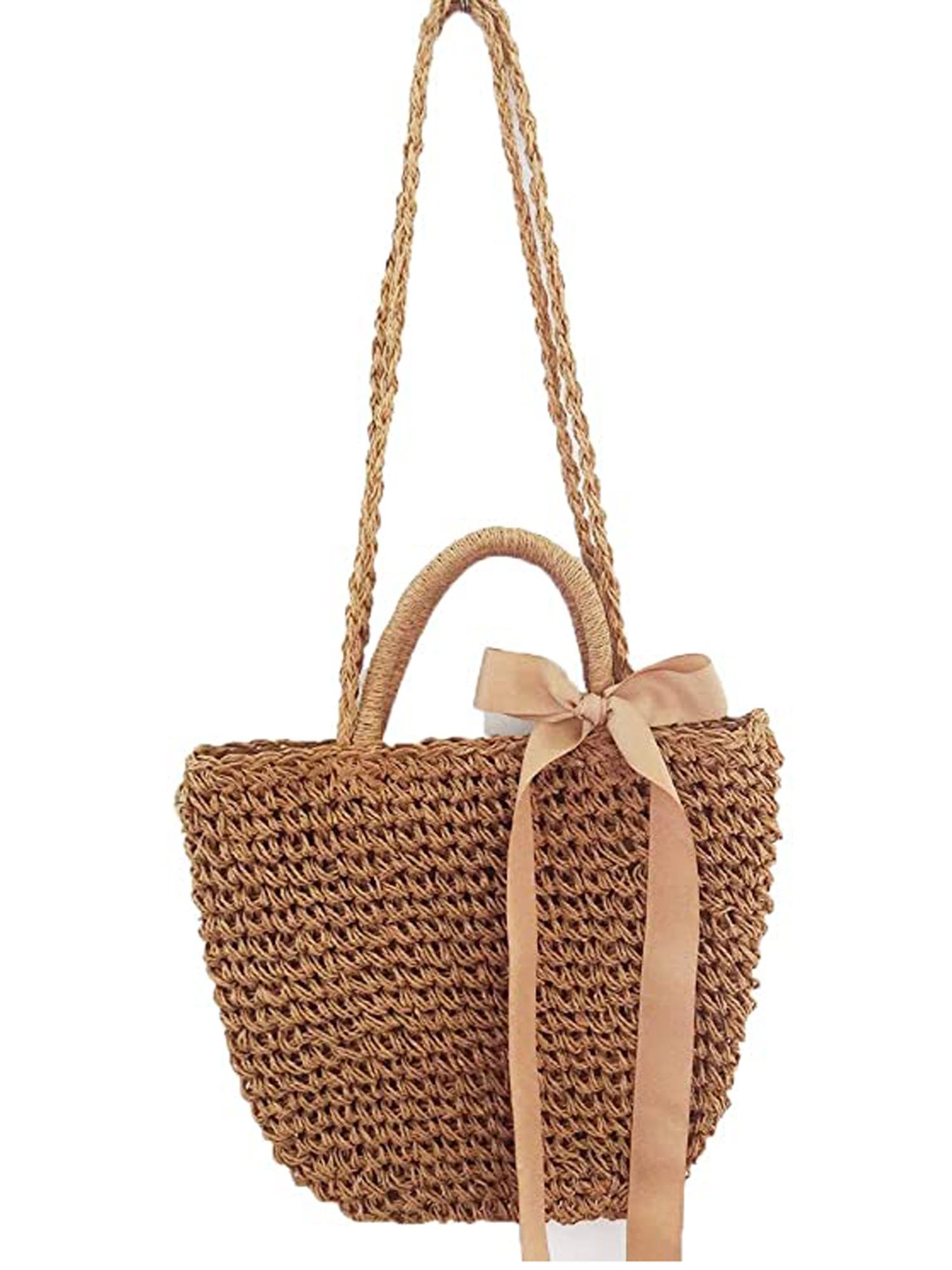 Details about  /Straw Over Shoulder Multi-Color Beach Tote
