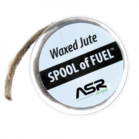 ASR Outdoor Waxed Jute Spool of Fuel Emergency Fire Starting Tool Storage