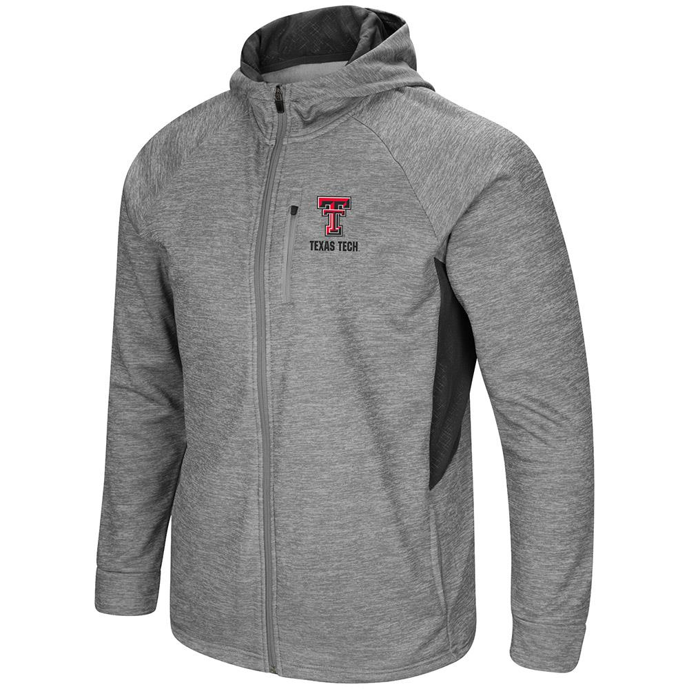Mens Texas Tech Red Raiders Full Zip Jacket S by Colosseum