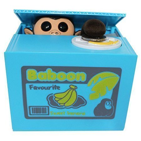 Funny Money Bank (Funny Coin Bank Monkey Stealing Coin to Banana Money Box Bank Home Decor Gift New )
