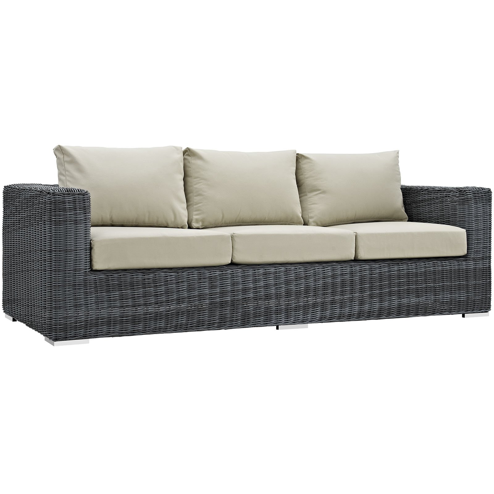 Modway Summon Outdoor Patio Sunbrella Sofa, Multiple Colors