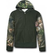 RapDom HYBRiCAM 2 Tone Mens Zip-Up Hoodie Jacket [Grey Bark Camo - S]