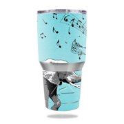 MightySkins Protective Vinyl Skin Decal for Ozark Trail 30 oz Tumbler wrap cover sticker skins Musical Elephant