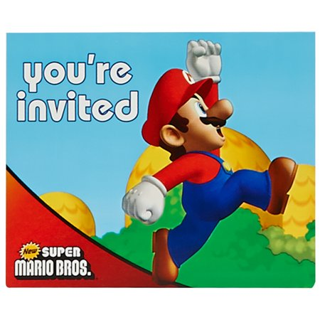 Super Mario Brothers Party Supplies 16 Pack Invitations](Halloween Sweet 16 Invitations)
