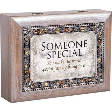 - Cottage Garden JM278GB Someone Special You Make The World Special Jeweled Pewter Keepsake Music Box plays What a Wonderful World