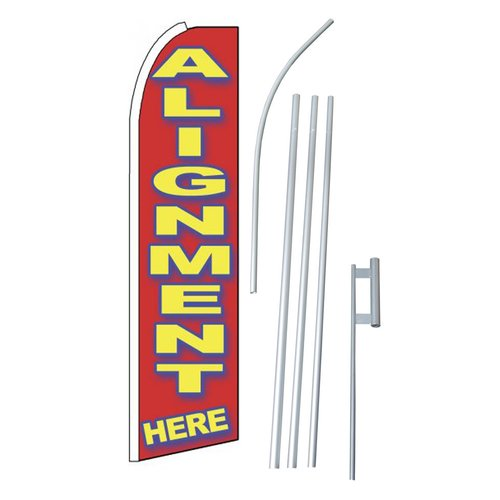 NeoPlex Alignment Here Swooper Flag and Flagpole Set