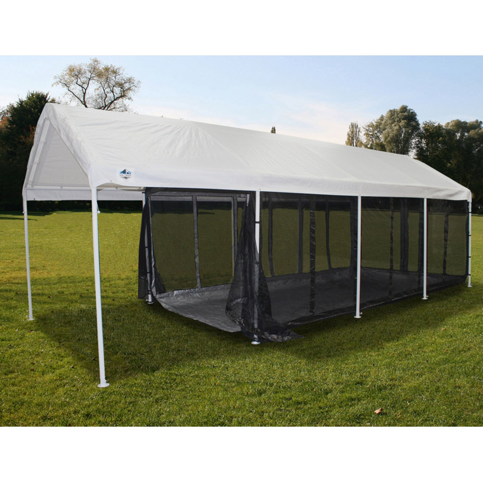 King Canopy 10 x 20 ft. Black Canopy Screen Room with Floor  sc 1 st  Walmart : canopy with screen - memphite.com