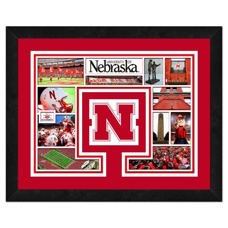 "Nebraska Cornhuskers 13"" x 16"" Milestones & Memories Framed Logo Mat - No Size"