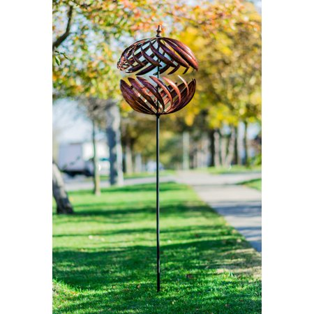 (BISTRATAL SPHERE COPPER WIND SPINNER)
