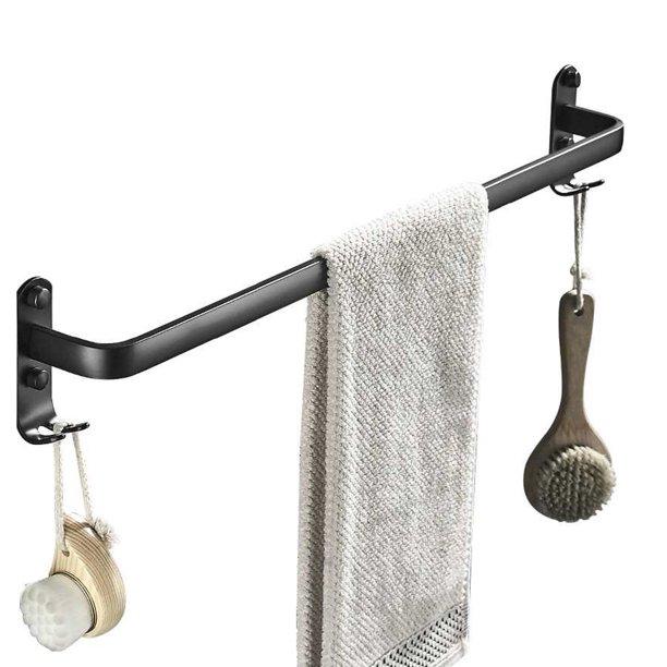 24'' Wall Mount Towel Bar Rack, Bathroom Towel Rod Holder ...