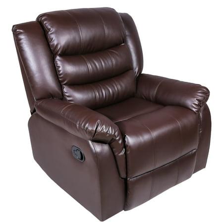 Harper Bright Designs Recliner Rocking Sofa Chair Pu Leather Ergonomic Lounge