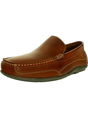 Tommy Hilfiger Men's Dathan Leather Light Brown Ankle-High Loafer - 12M