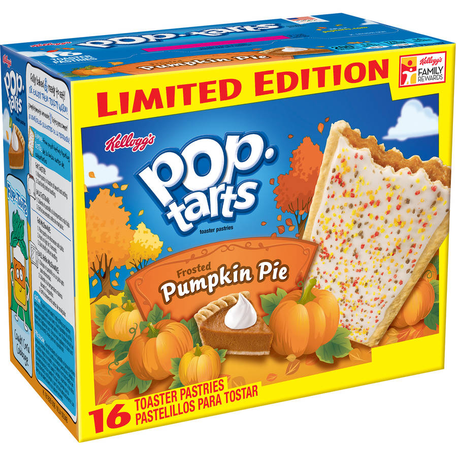 Kellogg's Pop-Tarts Frosted Pumpkin Pie Toaster Pastries, 16ct