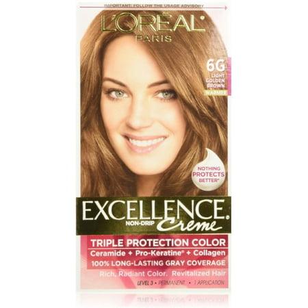 L Oreal Paris Excellence Creme Triple Protection Hair Color Light Golden Brown 6g