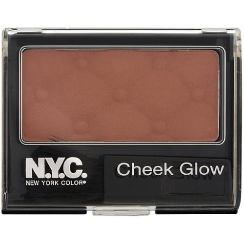 New York Color Cheek Glow Powder Blush, Riverside Rose [651] 0.28 oz (Pack of 3)
