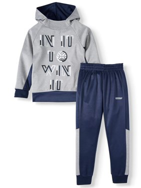 Hind Graphic Print Raglan Hoodie with Pull On Pant (Little Boys)