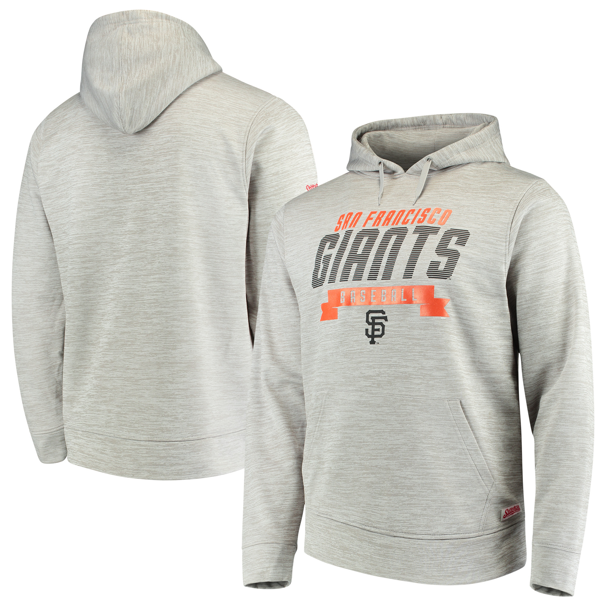 San Francisco Giants Stitches Poly Pullover Hoodie - Heathered Gray