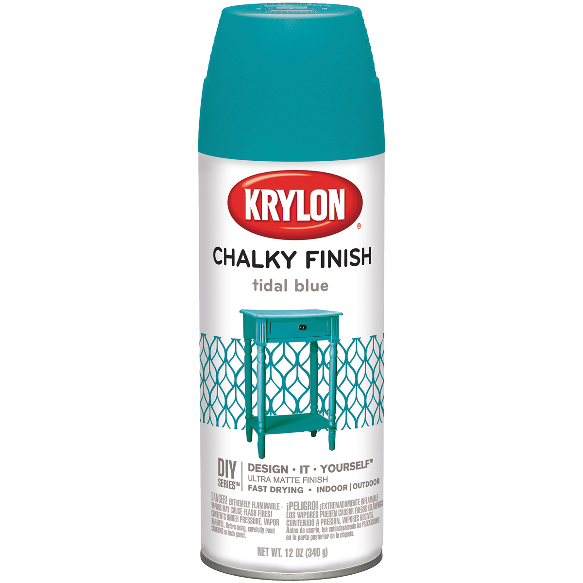Chalky Finish Aerosol Spray Paint 12oz-Tidal Blue