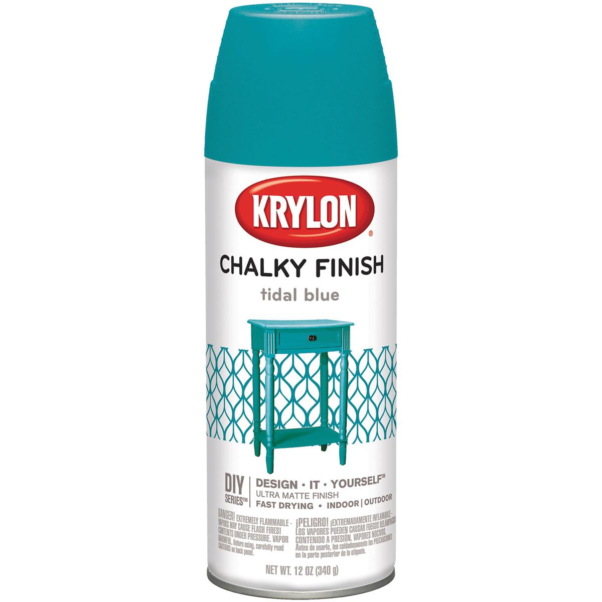 Chalky Finish Aerosol Spray Paint 12oz-Tidal Blue