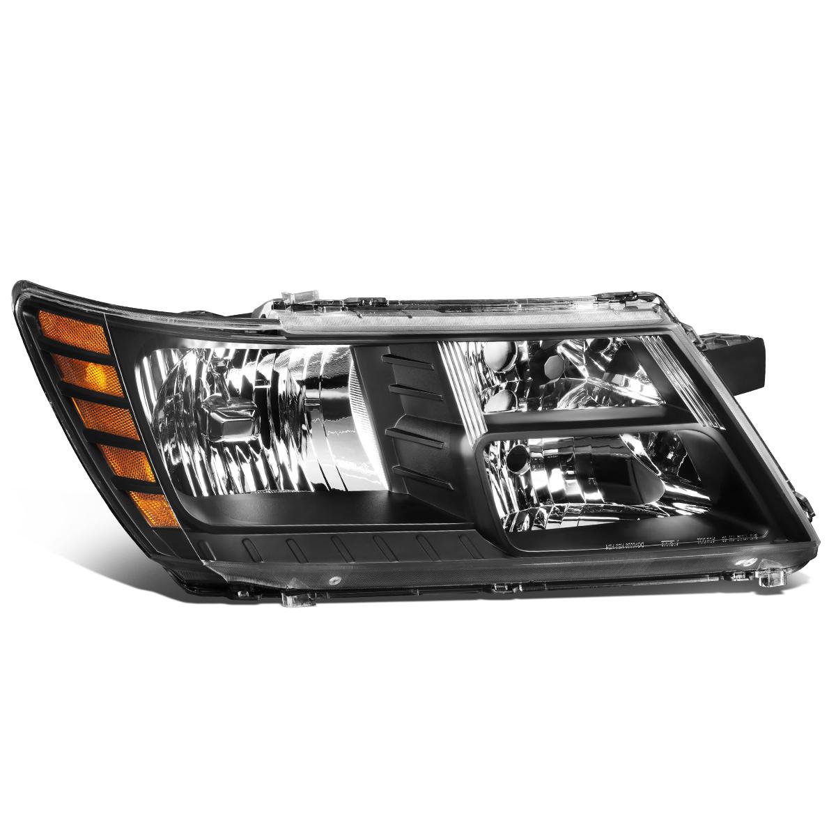 DNA Motoring OEM-HL-0109-R Right Passenger Side Factory Style Headlight Lamp,Black