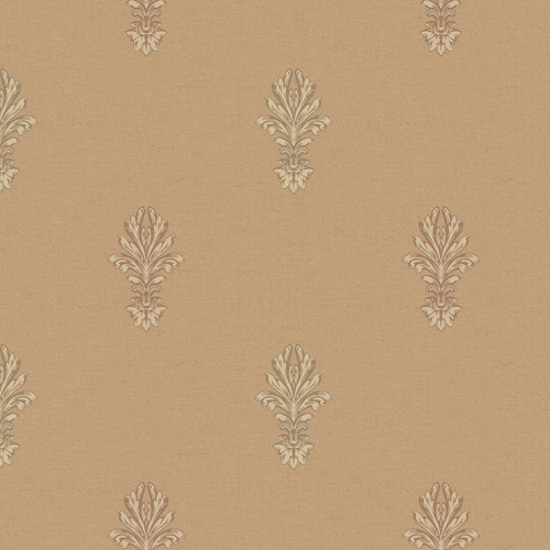York Wallcoverings Heritage Home Ornate Medallion 27' x 27'' Damask Distressed Wallpaper