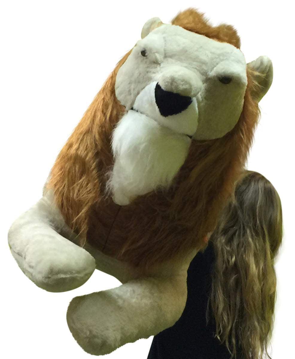 American Made Giant Stuffed Lion 4 Feet Long Soft Huge Stuffed