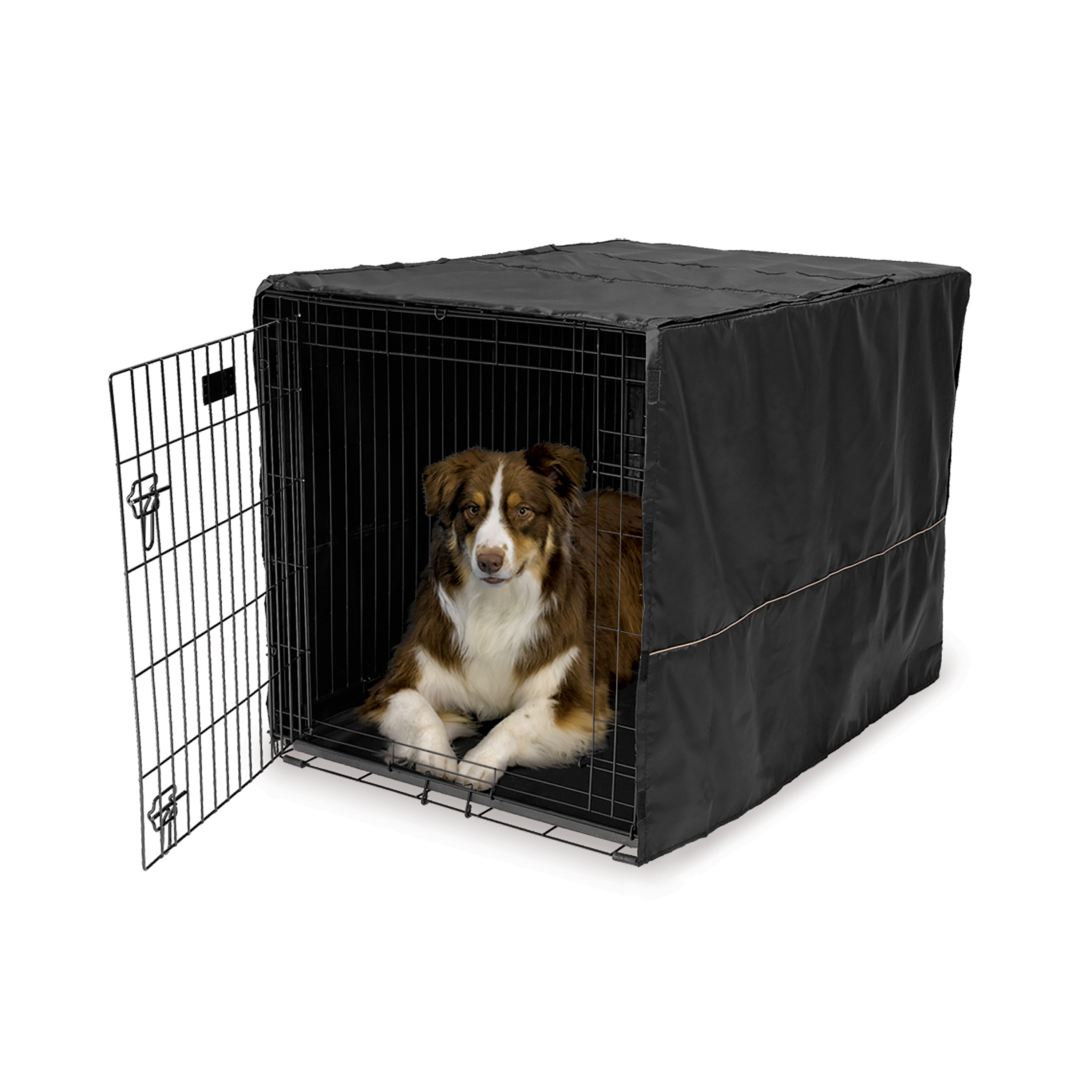 "Midwest 42"" Black Polyester Crate Cover"