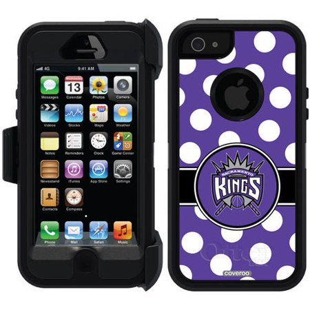 Sacramento Kings Polka Dots Design on OtterBox Defender Series Case for Apple iPhone 5 5s by