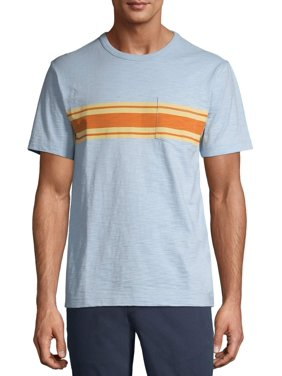 George Men's and Big Men's Cotton Crew Pocket T-Shirt, Up To Size 3XL