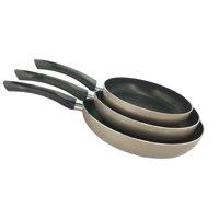 The Kitchen Sense Heavy Duty Non-Stick Fry Pan Set of 3 - Grey