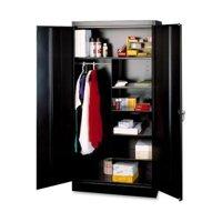Tennsco Combination Wardrobe/Storage Cabinet TNN7214BK