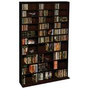 "Atlantic 71""x40"" Oskar Adjustable Wood Media Storage Shelf Bookcase (504 DVDs, 1080 CDs), Espresso"