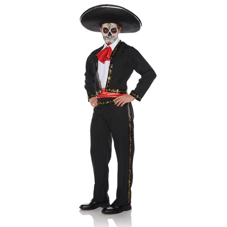 Mariachi Skull Male Adult Costume - Toddler Mariachi Costume
