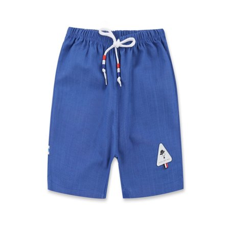 BOBORA Kid Girls Boys Unisex Summer Beach Cotton And Linen Five Minutes Shorts Pants Casual