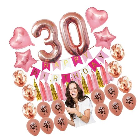 30th Birthday Decorations Party Supplies Dirty Thirty Rose Gold Women