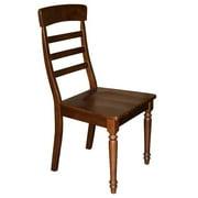 Chair w Wood Seat in Dark Oak Finish - Set of 2