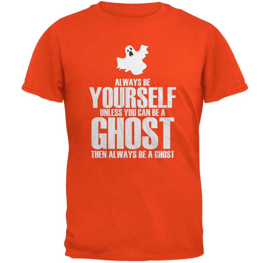 Halloween Always Be Yourself Ghost Orange Adult T-Shirt