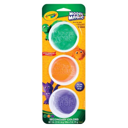 Crayola Model Magic In Secondary Colors, 3 Reusable Tubs, Gift For Kids