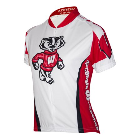 Wisconsin Cycling Jersey - Adrenaline Promotions Women's University of Wisconsin Badger Cycling Jersey (University of Wisconsin - M)