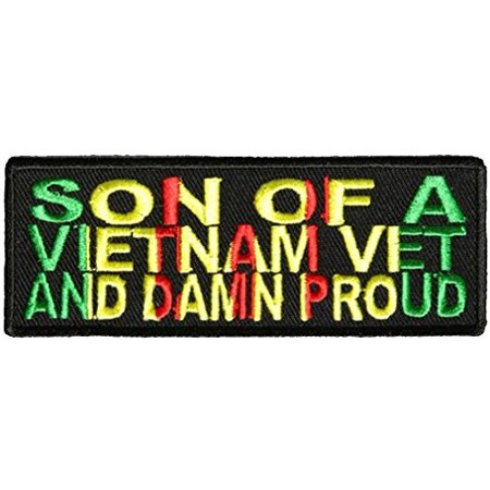 Sons Of Anarchy Patches (SON OF A VIETNAM VET AND DAMN PROUD PATCH - Color - Veteran Owned)