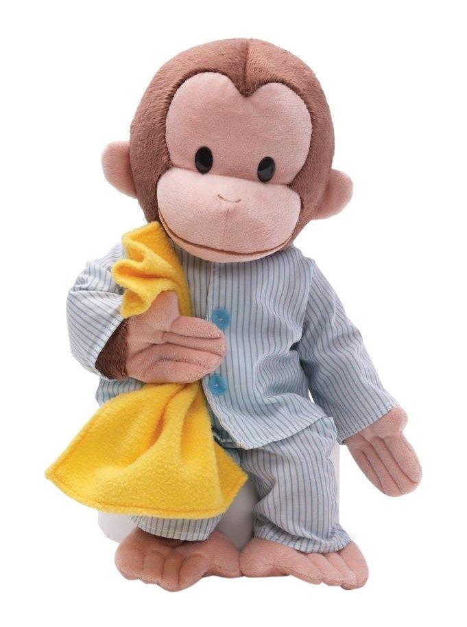 Curious George Pajamas Stuffed Animal, USA, Brand GUND by GUND