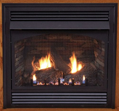 "Premium 32"" Vent-Free Millivolt Control NG Fireplace with Blower"