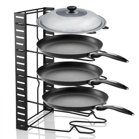 8 Tier Cookware Stand - Multi Tiers Pot Frying Pan Lid Storage Rack Organizer Kitchen Cookware Stand Holder