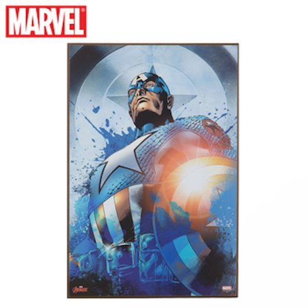 Captain America Wood Wall Art Home Decoration Theater Media Room Man