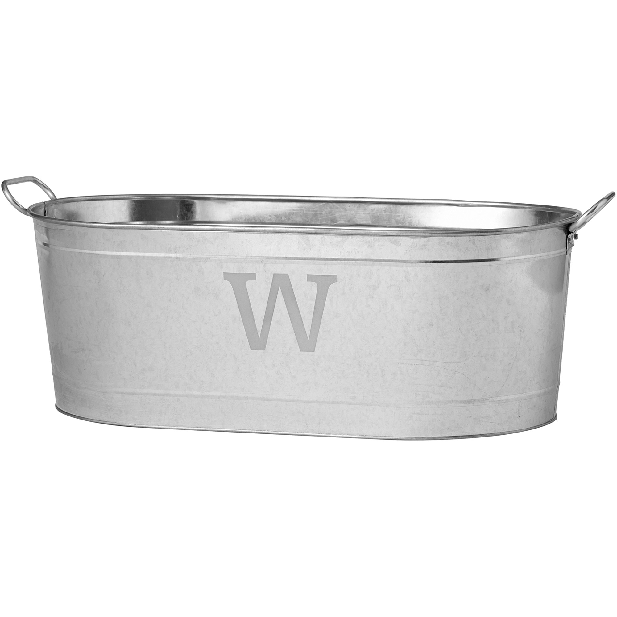 Personalized Galvanized Beverage Tub, Initial