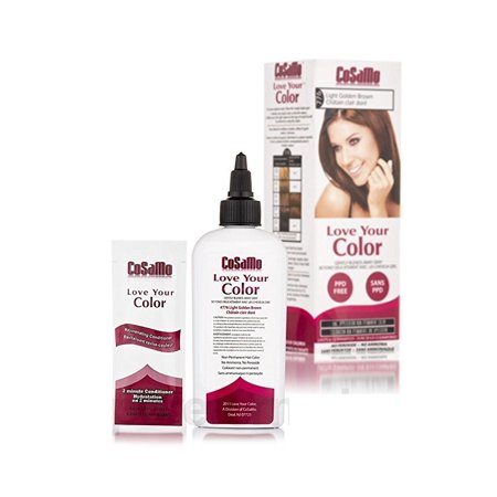 CoSaMo - Love Your Color Non-Permanent Hair Color 776 Light Golden Brown - 3 oz. + Schick Slim Twin ST for Sensitive Skin](St Pattys Day Hair)